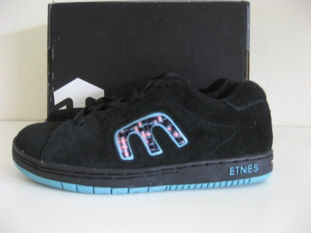 NEW Etnies CUTE Black Suede Girls Kids SKATE Shoes 4.5