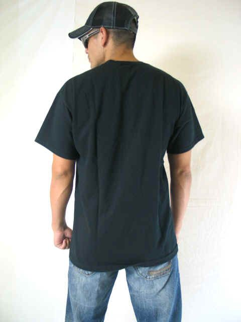 Of The Loom Mens Heavy Cotton Black S/S T Shirt Feck You XLarge