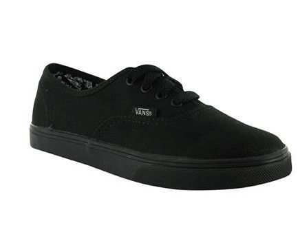 Pro All Black Slim Sole Skate Boys Girls Kids Youth Shoes NEW
